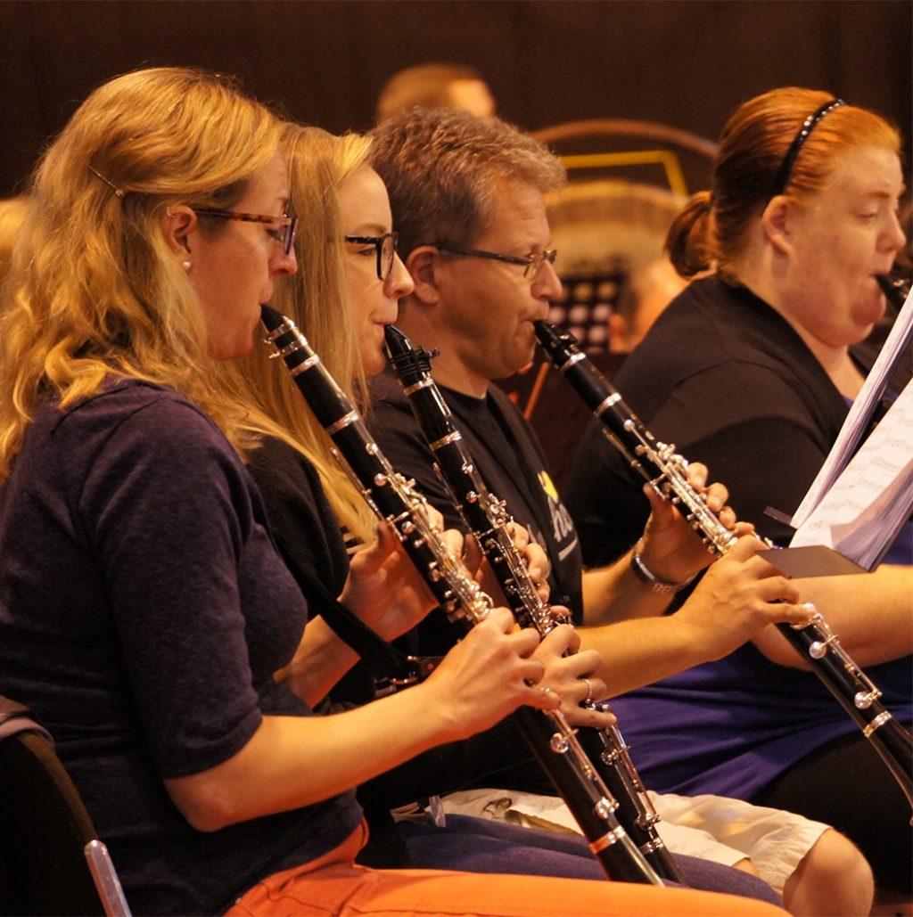 Orchesterprobe Quadratisch